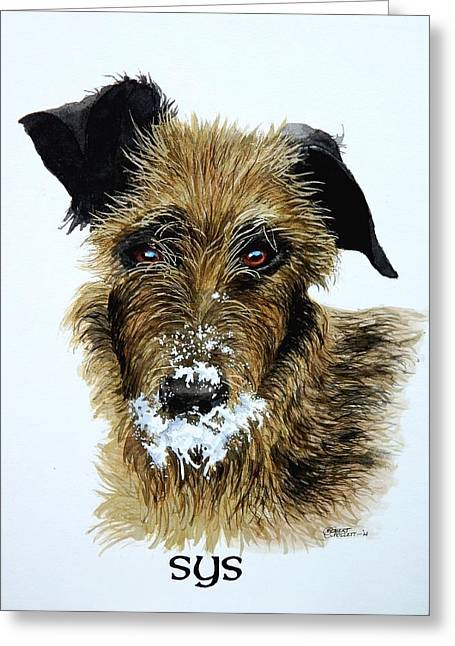 Pet Portraits Now Available Greeting Card
