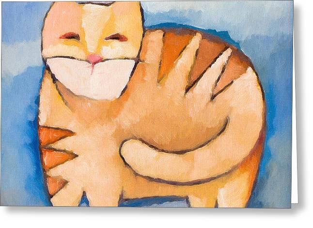 Pet Tiger Greeting Card by Lutz Baar