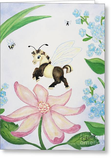Petal Jumper Greeting Card