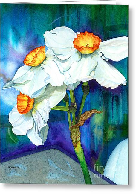 Petal Portrait Greeting Card by Barbara Jewell