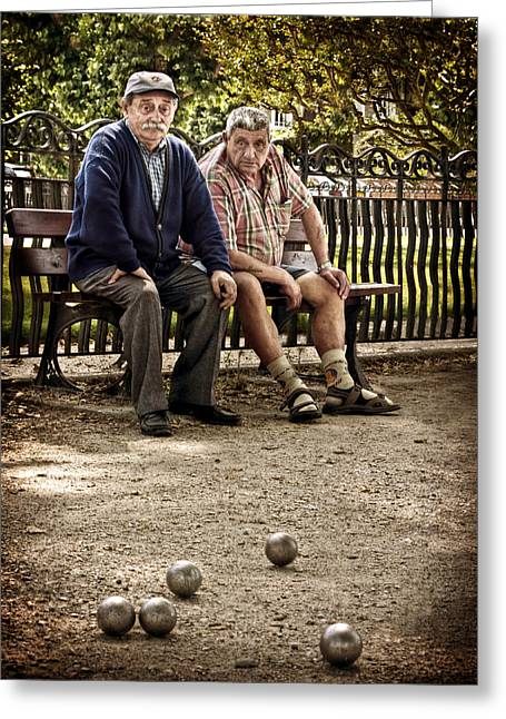 Petanque Match / Brive La Gaillarde Greeting Card
