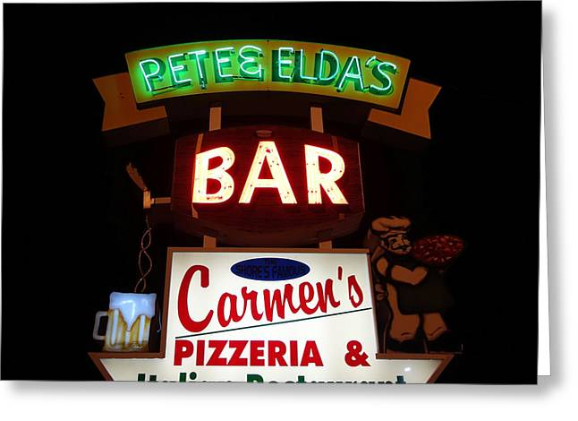 Pete And Elda's Bar Greeting Card