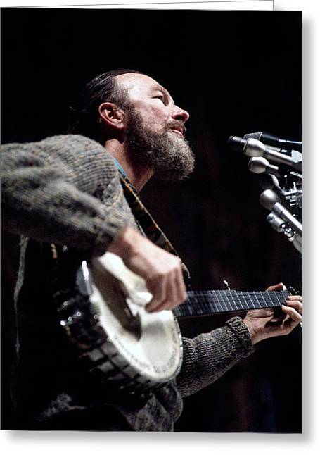 Pete Seeger Greeting Card by John Messina
