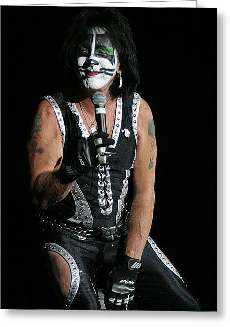 Greeting Card featuring the photograph Peter Criss - Kiss by Don Olea