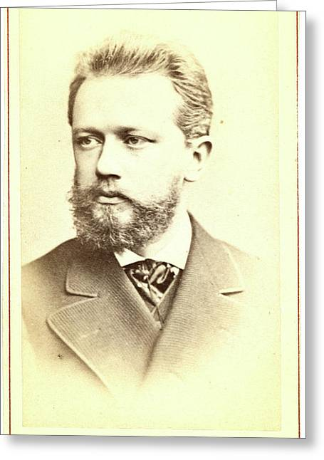 Peter Ilich Tchaikovsky, Head-and-shoulders Portrait Greeting Card by Litz Collection