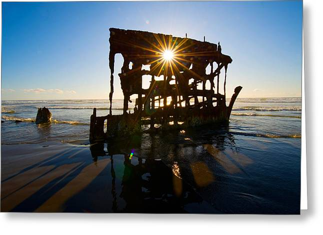 Peter Iredale Shipwreck, Fort Stevens Greeting Card