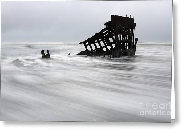 Peter Iredale Shipwreck Oregon 2 Greeting Card