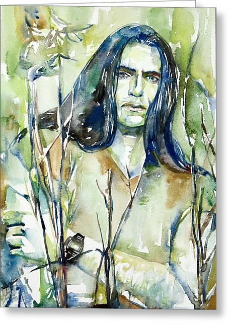 Peter Steele Portrait.1 Greeting Card by Fabrizio Cassetta