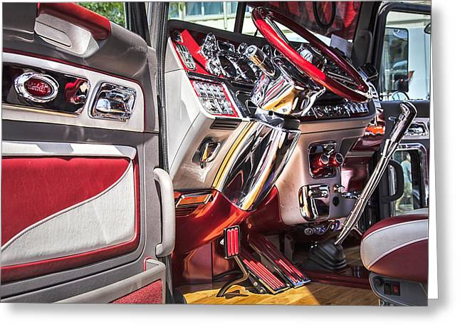 Peterbilt Interior Greeting Card