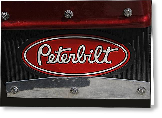 Peterbilt Emblem Mud Guard Greeting Card
