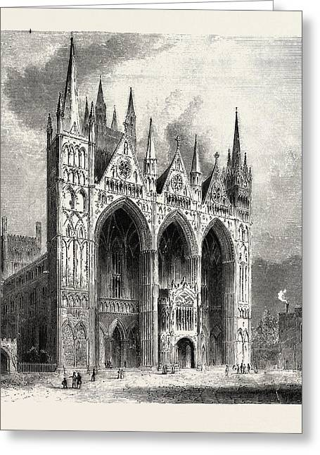 Peterborough Cathedral, In The United Kingdom  Is The Seat Greeting Card by English School