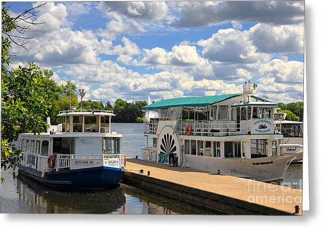 Peterborough Liftlock Cruise Greeting Card by Charline Xia