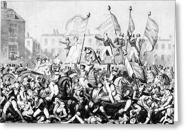 Peterloo Massacre, 1819 Greeting Card by Granger