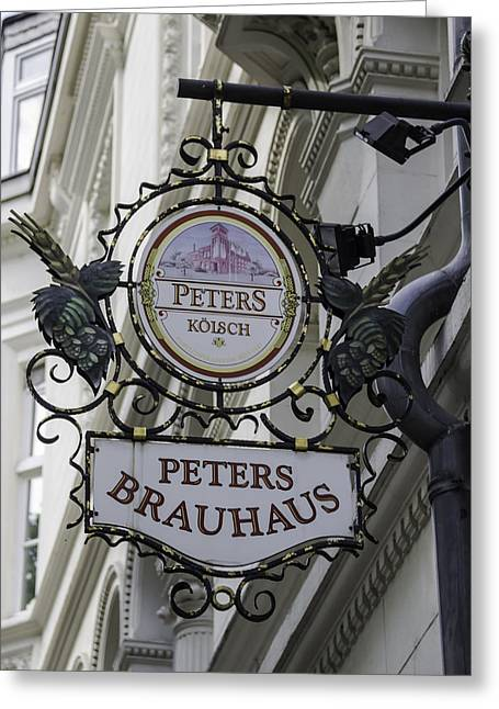 Peters Brauhaus Cologne Germany Greeting Card by Teresa Mucha