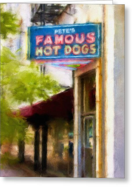 Pete's Famous Hot Dogs Greeting Card