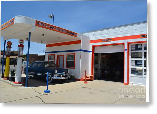Greeting Card featuring the photograph Pete's Gas Station by Utopia Concepts