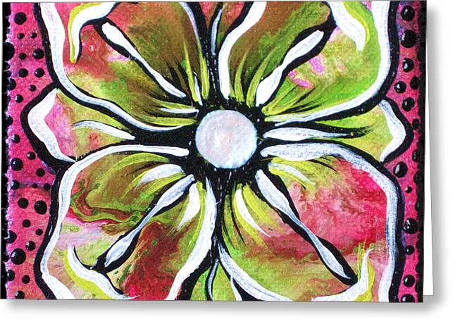 Petit Flower Greeting Card by Shadia Derbyshire