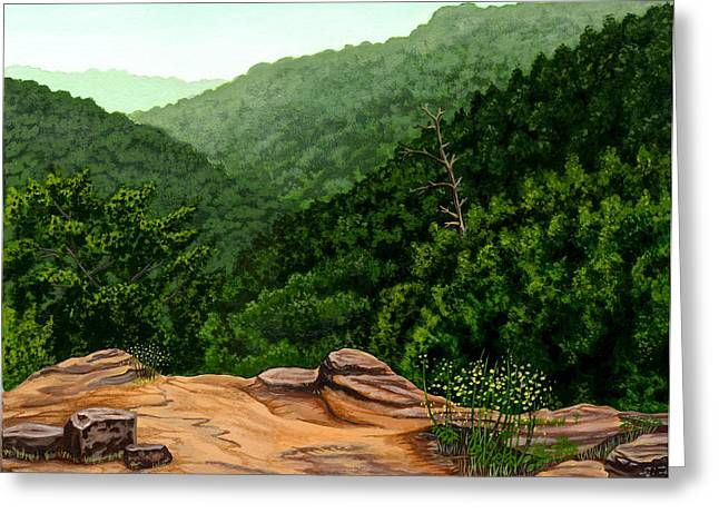 Petit Jean Mountains Greeting Card by Dustin Miller