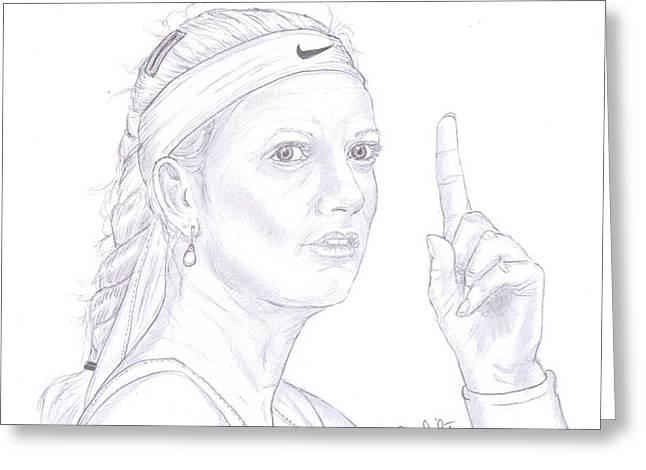 Petra Kvitova Greeting Card