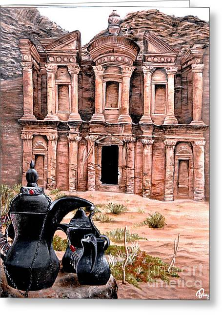 Petra  Greeting Card by Mylene Le Bouthillier
