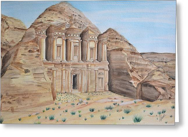 Petra Greeting Card by Swati Singh
