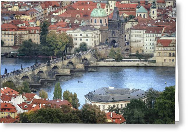 Petrin View Greeting Card by Joan Carroll
