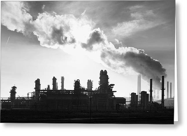 Petrochemical Plant Greeting Card by Hans Engbers
