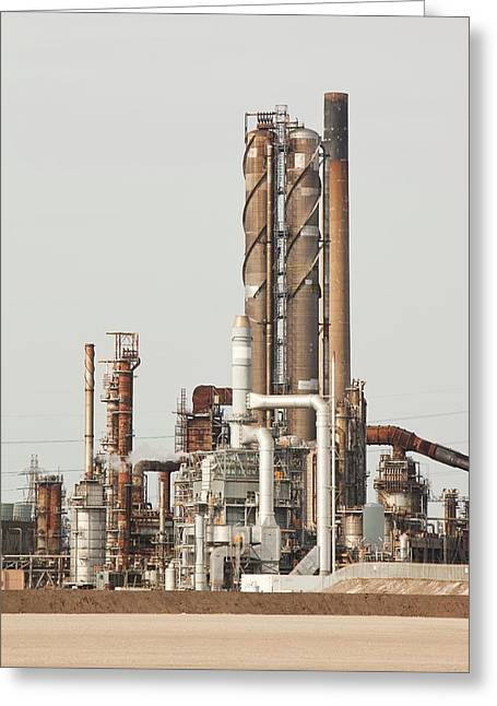 Petrochemical Works Greeting Card by Ashley Cooper