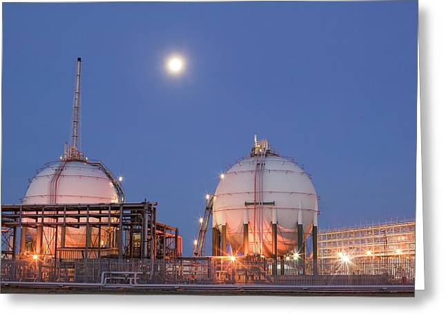 Petrochemical Works On Teesside Greeting Card by Ashley Cooper