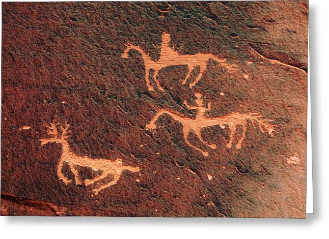 Petroglyph, Canyon De Chelly National Greeting Card by Michel Hersen