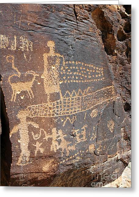 555p Petroglyph - Nine Mile Canyon Greeting Card