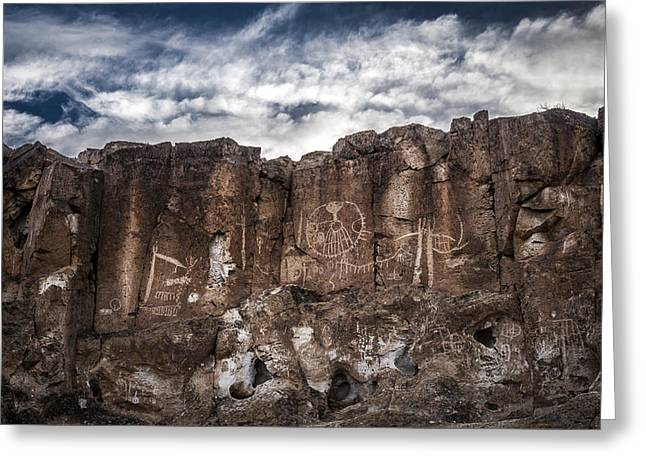 Petroglyphs Greeting Card by Cat Connor