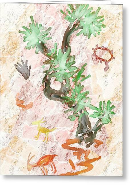 Petroglyphs Greeting Card by Jason  Donaire