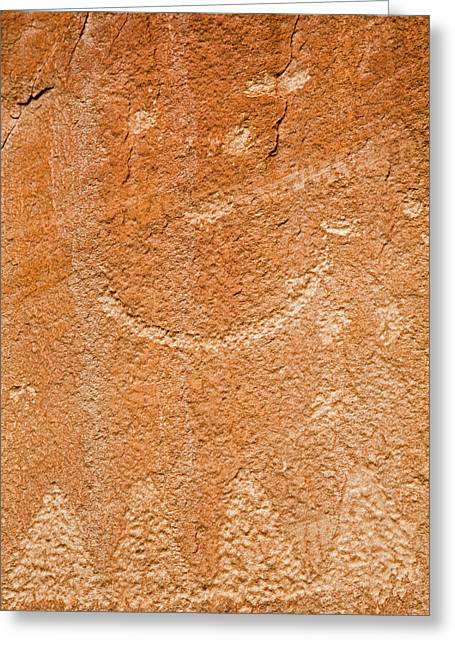 Petroglyphs On Sandstone Greeting Card by Jim West