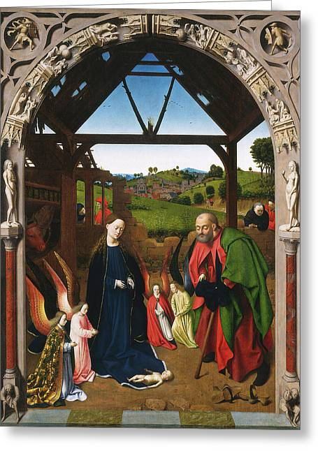 Petrus Christus, The Nativity, Netherlandish Greeting Card