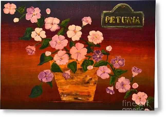 Petunia Greeting Card