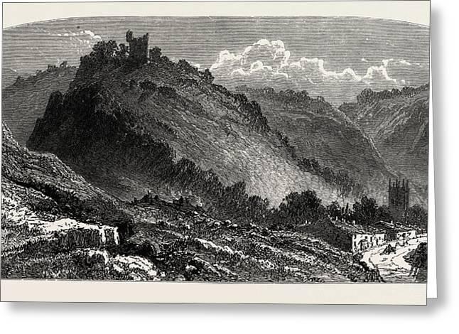 Peveril Castle, Also Castleton Castle Or Peak Castle Greeting Card