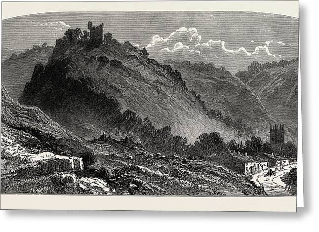 Peveril Castle, The Dales Of Derbyshire, Country Greeting Card