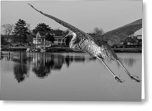 Pewter Great Blue Heron Greeting Card