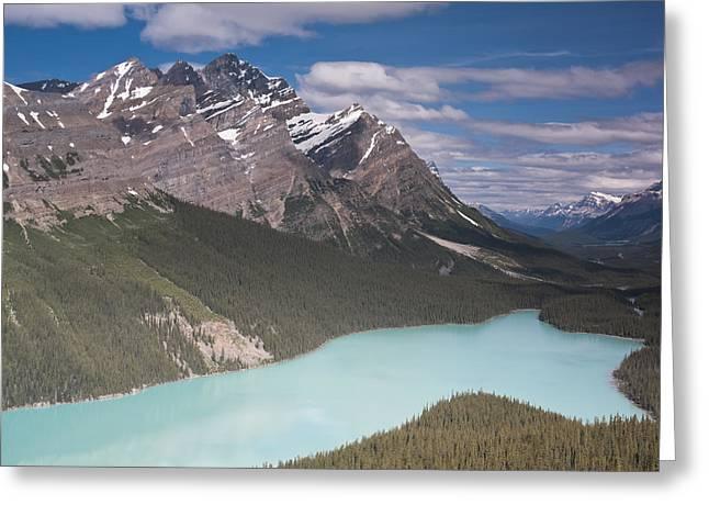 Peyto Lake And Caldron Peak Greeting Card by Richard Berry