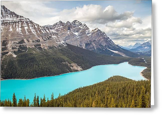 Peyto Lake Banff Greeting Card by Pierre Leclerc Photography