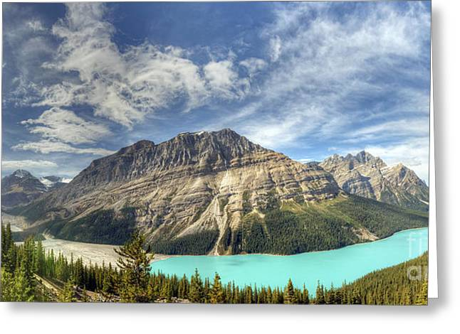 Peyto Lake Greeting Card by Wanda Krack