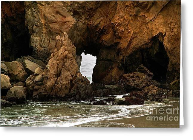 Pfeiffer Beach Rocks In Big Sur Greeting Card