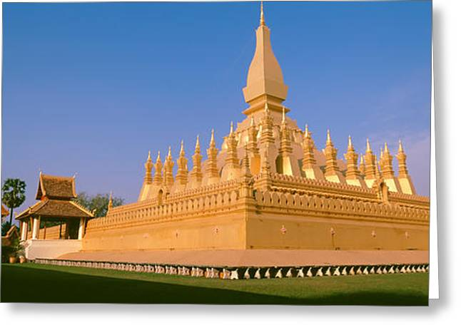 Pha That Luang Temple, Vientiane, Laos Greeting Card by Panoramic Images
