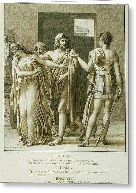 Phaedra Rejecting The Embraces Of Theseus Anne-louis Greeting Card by Litz Collection