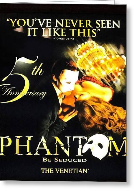 Phantom At The Venetian Greeting Card