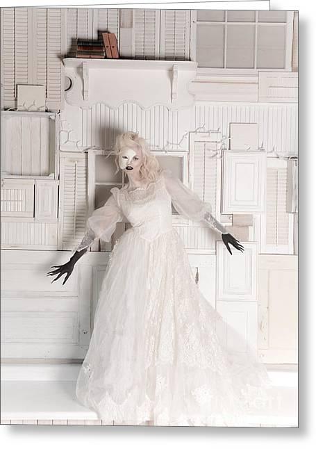 Phantom Bride Greeting Card by Jt PhotoDesign