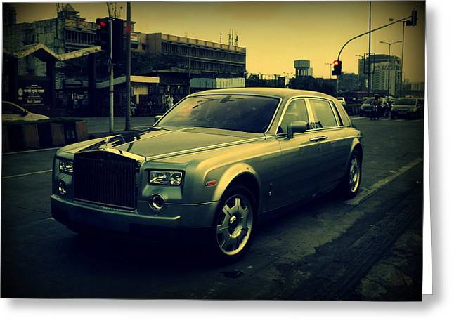 Rolls Royce Phantom Greeting Card by Salman Ravish