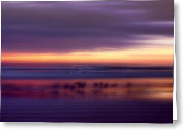 Phantoms Of The Beach Greeting Card by Ellen Heaverlo