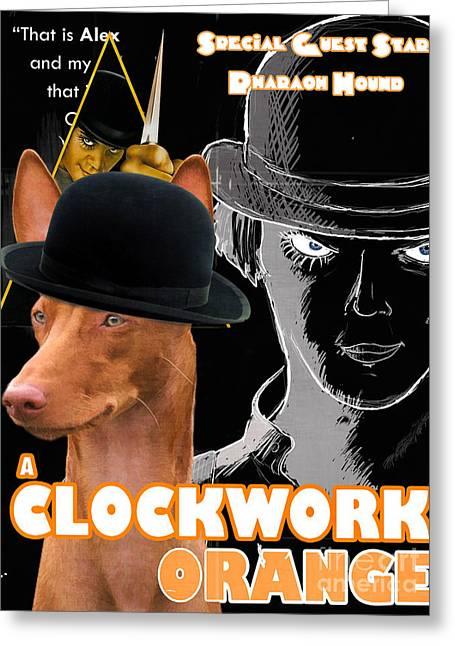 Pharaoh Hound Art Canvas Print - A Clockwork Orange Movie Poster Greeting Card by Sandra Sij